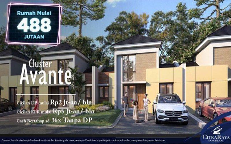 Cluster Avante Citra Raya Tangerang, Rumah Mulai 488 Juta