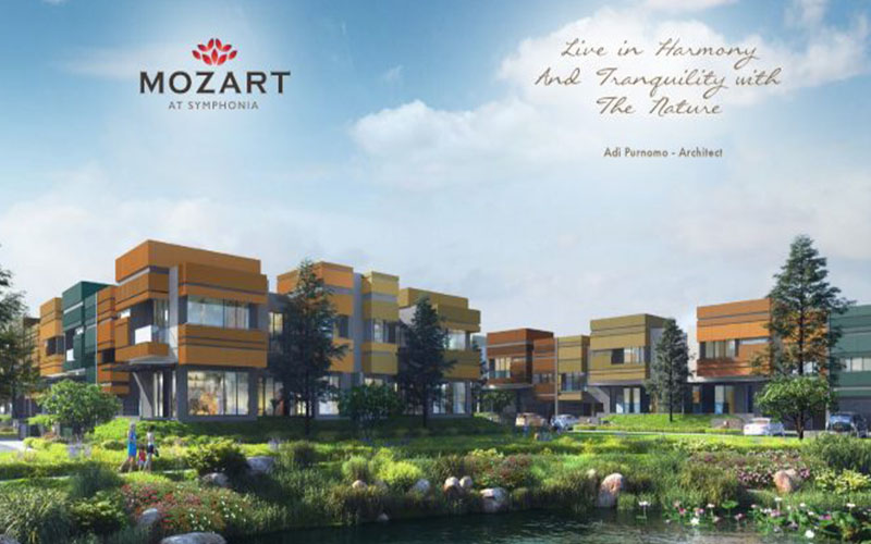 Mozart, 1 Cluster tepi danau di Kawasan Symphonia Summarecon Serpong