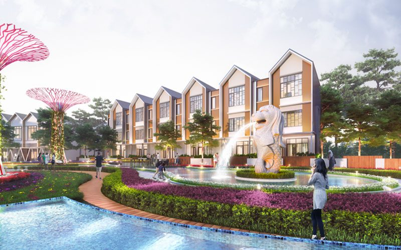 Sentosa Park Rumah 3 lantai Gaya Singapore