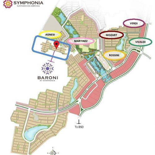 lokasi 1 Baroni At Symphonia, Cluster Terakhir Summarecon Serpong 2020