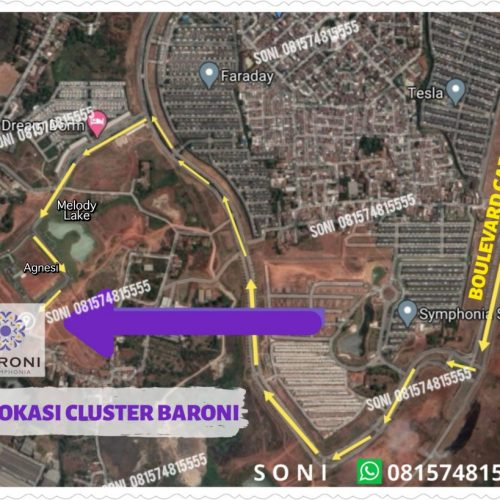 lokasi 2 Baroni At Symphonia, Cluster Terakhir Summarecon Serpong 2020