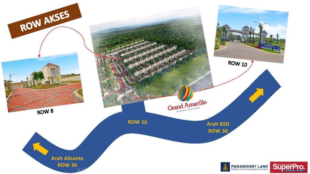 row akses Grand Amarillo From Paramount Serpong