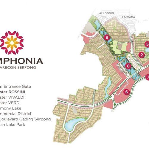 site plan 2Cluster Rossini di pinggir danau Kawasan terbaru Symphonia
