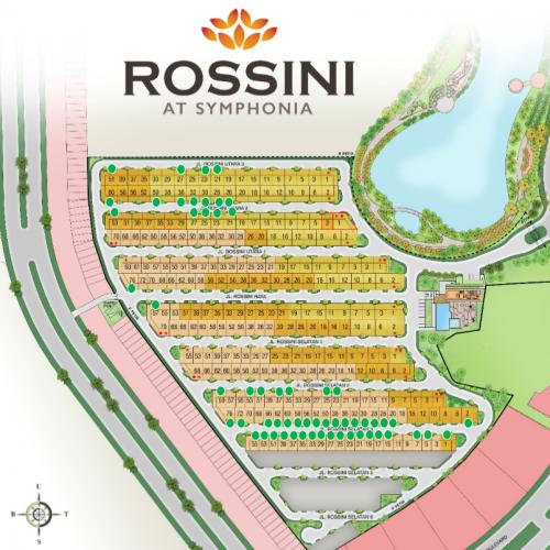 site plan Cluster Rossini di pinggir danau Kawasan terbaru Symphonia