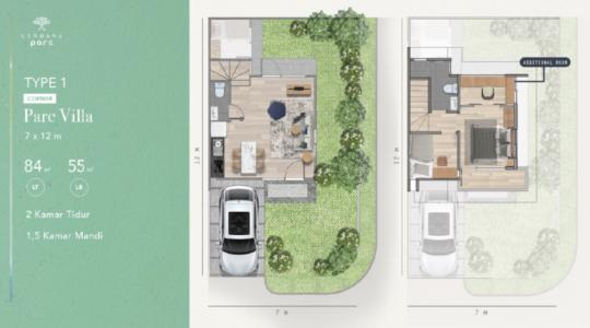 Type 1 Corner - Parc Villa - Additional Room