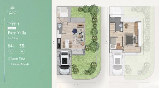 Type 1 Corner - Parc Villa - Layout