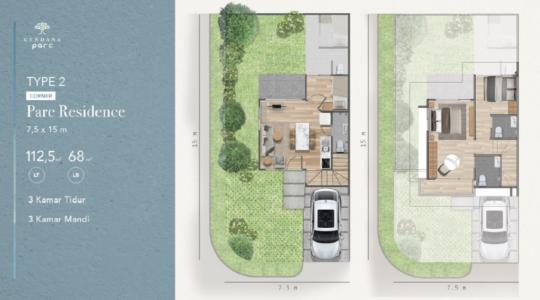 Type 2 Corner - Parc Residence - Layout